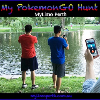 Pokemon Go limousine tour hunt in Perth Mounts Bay Road